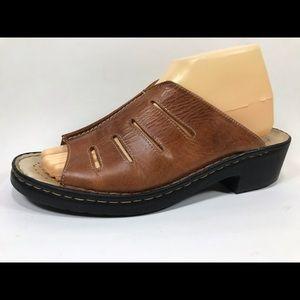 Josef Seibel Leather Slide Sandals 40